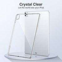 Ultra-Thin Slim Protective Back Case Crystal Crystal Clear przezroczysty miękki osłona TPU dla iPada 9.7 2 3 4 5 6 7 8 10.2 AIR4 10.9 Pro 10.5 11 12,9 cala MINI