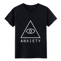 Ansiedad Estética Vaporwave Pyramid T Shirts Designs El algodón S-3XL Básico Sólido Sólido Suelto Spring Spring Original Camisa