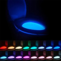 Luces de la noche del tocador de LED creativo 8 y 16 Color CUERPO HUMANO Lámpara de inducción inteligente colgando RGB automático de retroiluminación para el baño Lámparas de cubierta de tazón de baño Iluminación interior