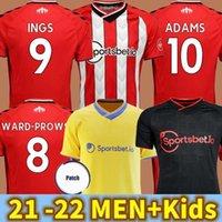 21/22 Southampton futebol jerseys custódia - Prowse 2021 2022 DJenepo Armstrong camisa de futebol conjunto longo Adams Romeu Vestergaard homens + crianças