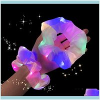 & Tools Productsled Luminous Bands Scrunchies Women Girls Headwear Rope Simple Wrist Rings Rubber Band Hair Aessories 20Pcs Drop Delivery 20
