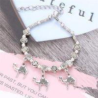 10PCS Lot Antique Original Crown Key Lock Shape 6 Colors Charm Necklace For Women Glass Beads Brand Sweater Chain & Bracelets