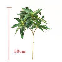 50 cm tropische bamboe kunstmatige palm boom tak nep planten zijde bladeren lange hydrocultuur plant ingemaakt voor thuis desktop decor decoratieve flowe