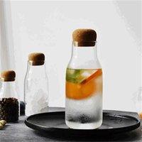 زجاج الجرار ماسون جرة تخزين شفافة يمكن الفلين سدادة زجاجة زجاج زجاجة صغيرة حاويات ختم تخزين القهوة خزان 391 R2
