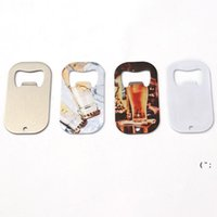 Sublimación en blanco Botella de botella abrelatas Sacacorchos DIY Metal Silver Dog Tag Creative Gift Home Kitchen Tool OWA5335