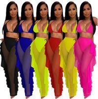 Mulheres Mulheres Sportswear Row Partes Tracksuits Roupas Sem Mangas Pants Outfits 2 Piece Set Casual Esporte Terno Plus Size 4042