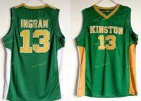 Kinston High School 13 Ingram Jersey Men Greenのスポーツファンイングラムバスケットボールジャージ通気性制服卸売最低価格