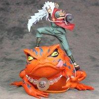 Anime Shippuden Jiraiya com Sapo Mount Frog Gamabunta Summon Monster Dois em um PVC Figura de Ação Coleção Modelo Boneca Toys Q0722