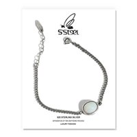 S'STEEL Opal Bracelets Gift For Women 925 Sterling Silver Luxury Designer Simple Chain Geometric Bracelet Joyas De Plata Jewelry 210525