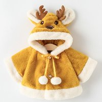 Jackets Children For Baby Girl Cute Winter Clothes Kids Christmas Coat Infant Princess Cloak Wool Warm Plush Outwear Boys