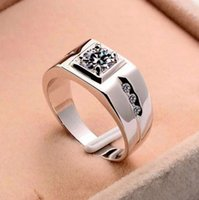 Hot Selling Jewelry Alloy Silver-plated Rings Diamond Man Rings European and American Men Domineering Hipster Wedding Rings Gifts