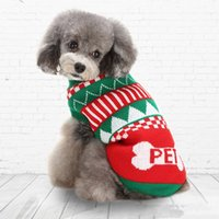 Dog Apparel Christmas Halloween Party Clothes Knitted Puppy Pet Cat Supplies Costumes Snowflake Outerwears Coat Sweater ZWL153