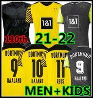 مشجعي المشجعين 2021 2022 Haaland Reus Borussia 4th Dortmund Soccer Jersey 20 21 22 كرة القدم قمصان 1990 طبعة محدودة Bellingham Sancho Hummels Brandt Men + Kids Kit