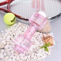 شخصية الدمبل زجاجة مياه اللياقة البدنية كأس 550 ملليلتر البلاستيك مختومة مانعة للتسرب مريحة للياقة رياضة زجاجة الرياضة HWE9070