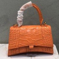 2021 роскошь дизайнеры женщин женские сумки сумка из натурального кожаных туалетных комплексов аллигатор песочные часы сумки сумки кошельков классические крокодистые сумки крокодил леди