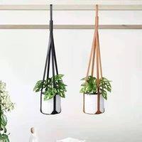 Moderns Couro Plant Hanger Potes Plantas Hangings Strap Modern Wall teto pendurado para vaso de flores Indoor Outdoor Zyya994 1487 T2