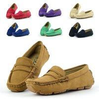 Skoex Childrens Loafer Slip-on Soft Wildleder Jungen flach Oxford Fahrer Bootsschuhe Neue Frühling Sommer Kinder Mädchen Mokassin 210329
