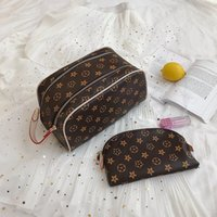 Lady travelling toilet Cosmetic Bags Makeup Train Cases Fashion women Large Capacity Wash Toiletry Bag 2-in-1