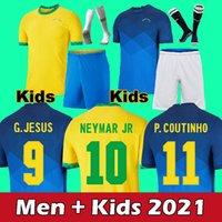 2021 Kids Brazi Jersey Jesus Militao Casemiro Coutinho Camiseta Richarlison de Futbol Kit Marcelo Futebol Camisa
