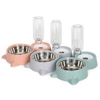 Otomatik Pet Besleyici Waterer Su Besleme Çift Kase Malzemeleri Kedi Köpek Kase Besleyiciler