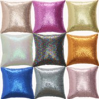 Blitter Mermaid Sequins Beavens Case Case Роскошный диван подушка для подушки декоративные подушки 40 * 40 Щепка розовая золотая наволочка