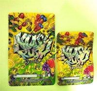 Zwei Größe Exotics Tasche wiederverschließbare Reißverschlussdichtung für Frische kinderfeste Blumen Verpackung 3,5g oder 7g Mylar Taschen Kush Rush
