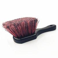 Escova de carro Lucullan pneu escova -special desenho macio cerda de ferramentas de detalhamento para limpar os pneus sujos libera sujeira e sujeira e sujeira