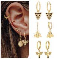 Hoop & Huggie Aide Pendientes Plata 925 Earrings Hoops For Women Bee Pigeon Leopard Snake Ear Ring Sterling Silver Delicate Jewelry