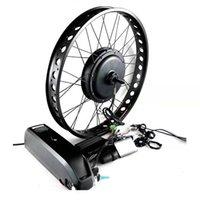 Elektrische Fahrradumwandlung Kit Nabe Brushless Motor 26 Zoll 48 V 18AH 1000W 1500W Rückseite Drehen Fett Ebike Schnee Radreifen 4.0 Display LCD