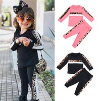 Clothing Sets 1-5Y Girls 2021 Autumn Winter Toddler Clothes Outfit Kids Leopard Print Tracksuit For Boys Children