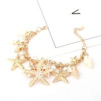 Hand catenary Korean fashion tide ocean Bohemian Style Bracelet starfish shell bracelet
