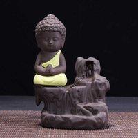 Duftlampen Handgemachte Lotus Buddhistin Keramik Weihrauch Brenner Halter ZENSER AROMATHERAPY RAUM BACKFLOW 4 STYLE Y0D0