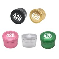 Aircraft Aluminum Alloy Grinder 420 Logo Herb Grinders for Dry Herbal Smoking Tools 4 Layers 63mm Spice Crusher