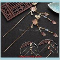 Bijoux cheveux clips barrettes classique peluche coiffure chinoise coiffe hanfu bâtonnet bijoux ornements antiques style aessories goutte de