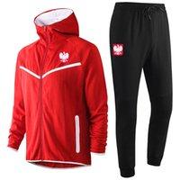 Polonya Ulusal Takım Futbol Erkek Eşofman Ter Suits Spor Erkek Hoodies Ceketler Eşofman Jogger Tişörtü Eğitim Ceket Pantolon Kitleri Spor Takım Elbise Setleri
