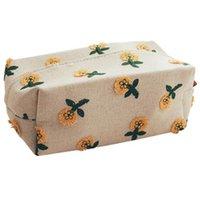 Caixas De Tecido Guardanapo Pequeno Caixa De Flor Luz Luxo Caixa De Luxo Decoração Decoração Decoração Tampa Do Guardanapo Lindo Pano