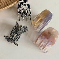 Cute Small Geometric Acrylic Hairpins Hair Clip For Women Girl Clamp Hair Accessorie Headwear Mini Hair Claw