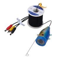 GAMWATER 1000tvl Underwater Fishing Camera with 15pcs White LEDs + 15pcs Infrared Lamp Fishfinder Camera 704 S2