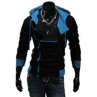 Felpe con cappuccio da uomo Felpe Side Zipper Patchwork Uomo Casual Assasins Creed Abbigliamento Abbigliamento Mens e Sudadera Hombre