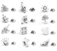 50pcs lot Suit Brooch Pin Plane Horse Riding Micky Mouse Dinosaur Brooches Lapel Sticker Men Women's Jewelry Accessory Wholesale H1018
