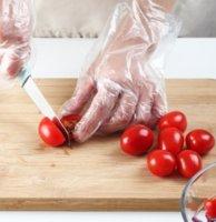 Прозрачные экологически чистые одноразовые перчатки LATEX бесплатные пластиковые пищевые продукты безопасные домохозяйственные бактерии перчатки ZHL4604