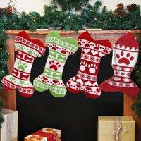 عيد الميلاد الحيوانات الأليفة الجورب محبوك زينة عيد الميلاد هدية الجوارب الصوف الجاكار عيد الميلاد هدايا حقيبة بالجملة