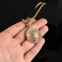 Pendant Necklaces Trendy Football Link Chain Soccer Charm Necklace Gold Color Sport Ball Jewelry Men Boy Children Gift