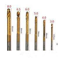 Broca Bit Hot New Product 6 em 1 ferramenta de broca elétrica de alta velocidade definido para liga de alumínio de madeira fina e placa de plástico DHF9080