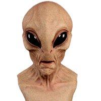 Halloween Alien Mask Scary Hemsk Big Eyes Horror Alien Mask Full Head Latex Mask Magic Monster Mondkapjes Wasbaar