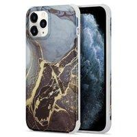 Quatro cantos de casos de telefone de mármore de ouro de outono para iphone 12 11 pro promax x xs xsmax 7 8 mais samsung note10 note20 s20 s21 a51 a71