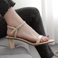 Dress Shoes Women Summer Sandals 2021 High Heel Slippers Slip On Open Toe Casual Outdoor Narrow Band Slides