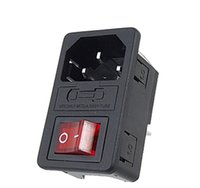 2021 Inlet Module 3 Pin Male Power Connector Socket Plug with Fuse Switches IEC320 C14 Red  Green for Industrial Controlle