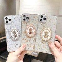 Роскошные 3D Bling Blitter Sequins Case для iPhone 11Promax SE XS MAX XR X 7 8 плюс богиня Avatar Pearl прозрачная мягкая крышка