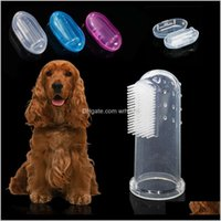 Grooming Home & Gardensoft Pet Finger Toothbrush Teddy Bad Breath Tartar Teeth Care Dog Cat Cleaning Supplies Soft Tooth Brush W-00704 Drop